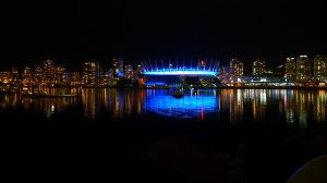 Vancouver and False Creek at Night