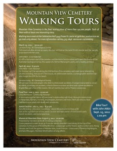 Cemetery walking tours