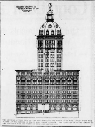 Proposed Building for the World Newspaper